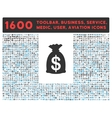 Money Bag Icon with Large Pictogram Collection vector image vector image