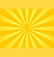 orange sunbeams star light yellow flash spinning vector image