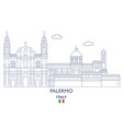 palermo city skyline vector image vector image
