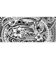 polynesian ethnic ornament vector image