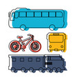 public transport vehicles sketch vector image vector image