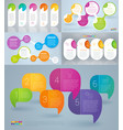 rainbow color infographics vector image