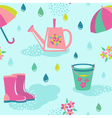 Rainy weather seamless pattern vector image