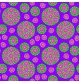 seamless pattern with purple flower vector image