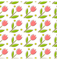Seamless texture with tulips vector image