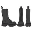 set color with black boots vector image vector image