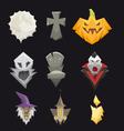 Set halloween icons vector image vector image