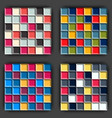 set of cube game seamless patterns vector image
