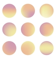 Set of nine colorful circles with place for text vector image vector image