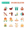 spa treatments for men and women set spa and vector image vector image