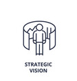 strategic vision line icon outline sign linear vector image vector image