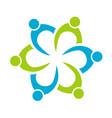 teamwork people together unity logo vector image