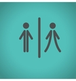 toilet icons vector image