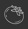 tomato chalk icon vector image vector image