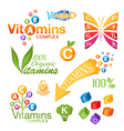Vitamins icons for design vector image vector image