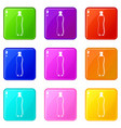 water bottle icons 9 set vector image vector image