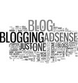 what is a blog and why have one text word cloud vector image vector image