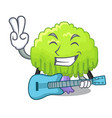 with guitar green tree willow on the character vector image vector image