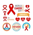 World Cancer Day elements collection vector image vector image