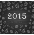Christmas or New Year Chalkboard design vector image