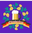 Oktoberfest Poster Flat Design vector image