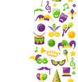 cute background for mardi gras and carnival vector image