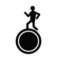 man running above a wheel vector image