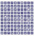 100 pointers icons set grunge sapphire vector image vector image