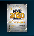 2020 new year party celebration poster template vector image