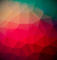 Abstract Retro Red Triangle Background vector image
