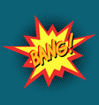 bang comic cartoon pop art retro vintage vector image vector image