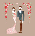 beautiful couple getting maried vector image vector image