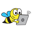 Bee and Tablet vector image