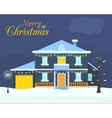 Big house with christmas light and decoration vector image