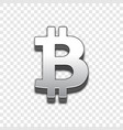 bitcoin trendy 3d style icon vector image vector image