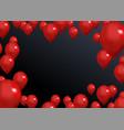 black friday backdrop red balloons concept design vector image