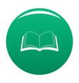book information icon green vector image vector image