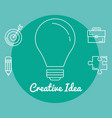 bulb creative ideas concept vector image vector image