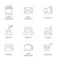 Business marketing outline icons vector image vector image