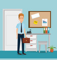 businessman in the office workplace scene vector image