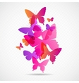 Butterflies Design Background vector image vector image