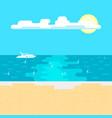 calm sea and sandy beach on a sunny day vector image