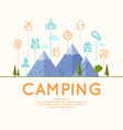 camping and poster vector image vector image