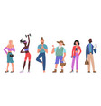 casual people flat set vector image vector image