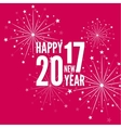 creative happy new year 2017 vector image vector image