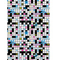 Crossword puzzle repeat pattern with flowers and vector image vector image
