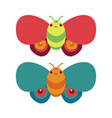 cute butterfly flying icon vector image vector image