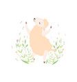 cute little lamb jumping happily adorable sheep vector image vector image
