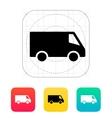 Delivery Minibus icon vector image vector image