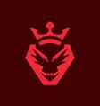dragon crown logo vector image